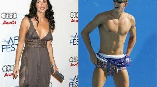 Phelps megmozgatta Demi Moore fantáziáját