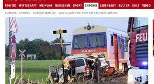 Vonatbaleset: három kisgyermek is meghalt