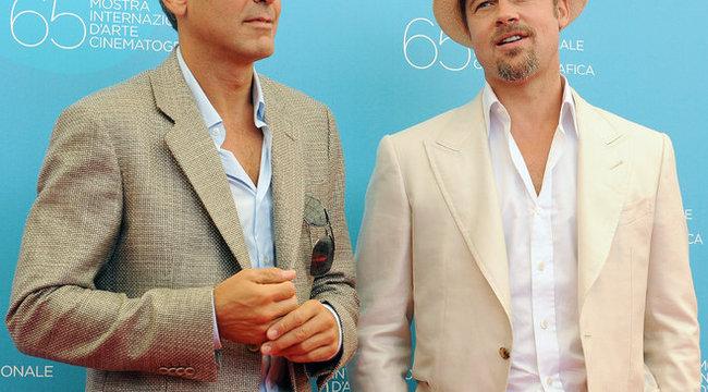 Összeveszett George Clooney és Brad Pitt
