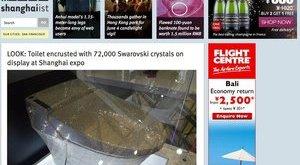 Ürítsen ön is kristályokkal kirakott wc-be