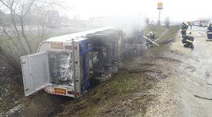 Megrázó fotók a tartály-kocsis baleset helyszínéről