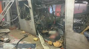 Így nézett ki a brüsszeli metró a robbanás után