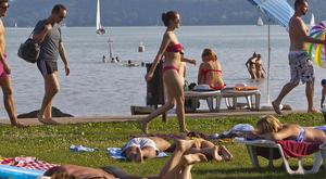 Csak kicsit kell bátornak lennie, ha már fürdene a Balatonban
