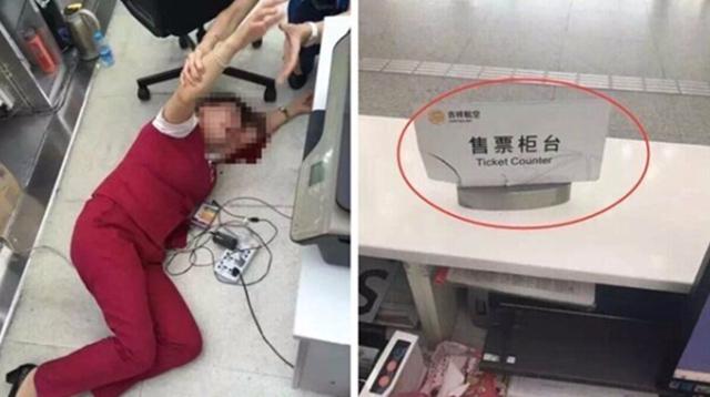 Kegyetlenül leütötte az utas a reptér alkalmazottját