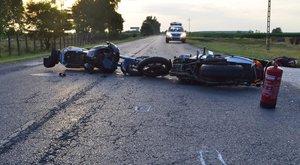 Brutális motoros baleset történt Csengerben - fotók