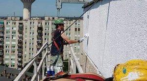 Drámai segélykérést festettek a csepeli házfalra