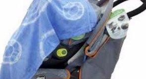 Ne! Ne tegyen textilpelenkát a babakocsira!