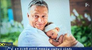 Hoppá! Megmutatta unokáját Orbán Viktor!