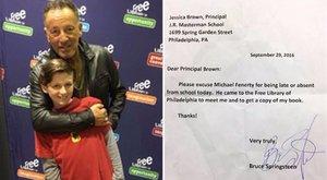 Rocksztárral igazoltatta iskolai hiányzását a kisfiú