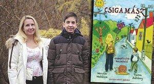11 éves fiával írt könyvet a tájépítész Natália