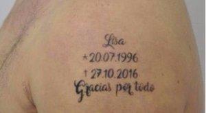 Magára tetoválta, hogy mikor végzett a nőjével
