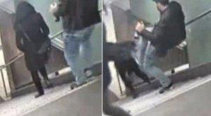 Viccesnek érezték, hogy lerúgjanak egy gyanútlan nőt a lépcsőn - videó
