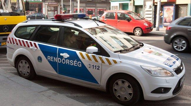 Zebrán hagyott cserben a rendőrautó egy biciklist