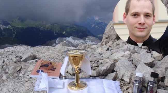 Felhők felett tartott misét Zoltán atya