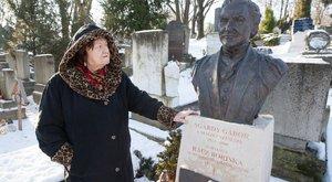 A kórházból is kijár férje sírjához Agárdy özvegye