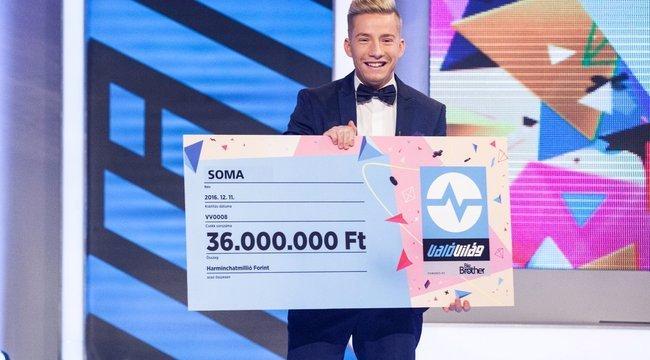 Ötszáz forintból él a győztes: VV Soma egy fillért sem látott még a nyereményből