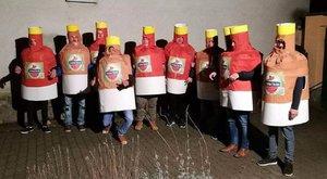 Sörnek öltöztek a megyei focisták