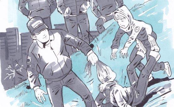 14 éves gengszterekhajánál fogva húzták végig a játszótéren a kislányt