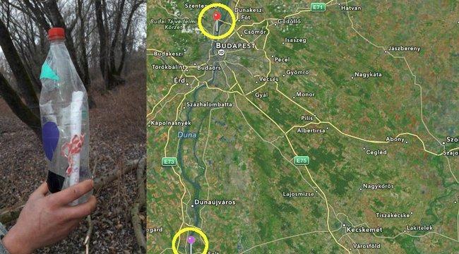 Csodaszámba megy: megtalálták az augusztusi palackpostát Dunaföldvárnál