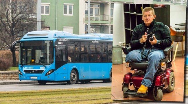 Otthagyta a busz a mozgássérültet: Tibor küzd az igazáért