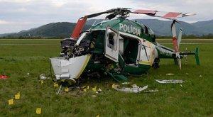 Lezuhant Eperjesen egy rendőrségi helikopter, két tűzoltó meghalt