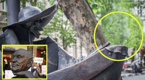 Leszakították Hofi Géza szobrának fejét