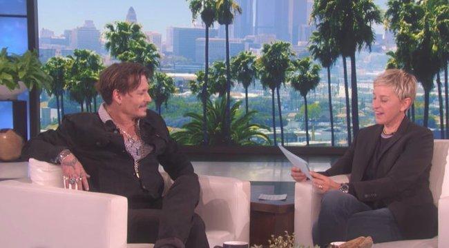 Ki nem találná, mi Johhny Depp kedvenc testrésze!