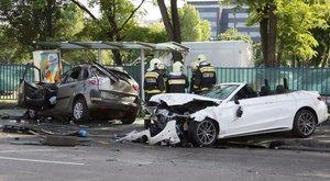 Dózsa György úti baleset: Féknyom nélkül tarolt a Mercedes