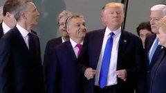 Jól reagált-e a kormányfő, miután meglökte Trump?