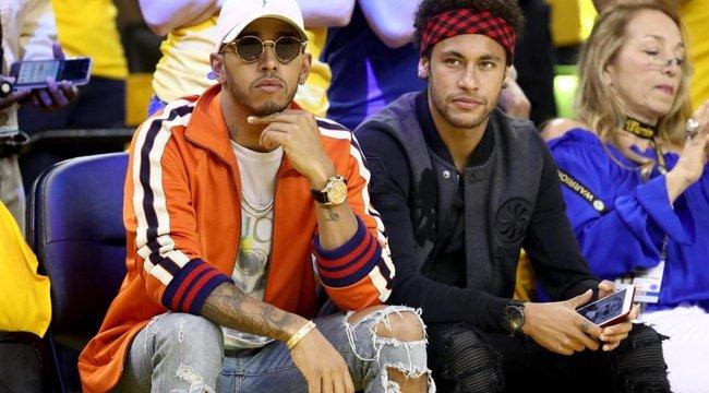 Kosármeccsen kapcsolódott ki Hamilton és Neymar - együtt