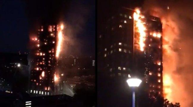 """""""Láttuk, amint egy férfi halálra ég"""" - szemtanúk a londoni toronyház-tűzről"""