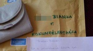 Becsületes: visszakapta elhagyott pénztárcáját Bianka