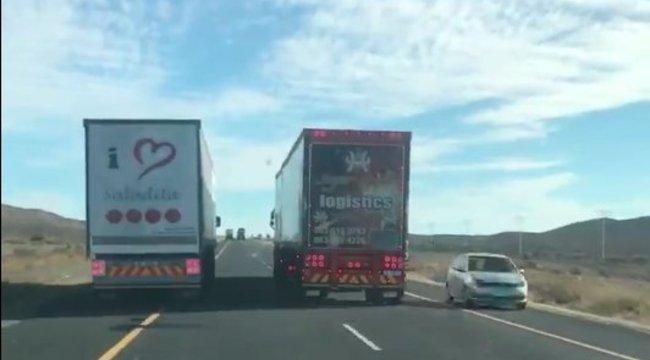 Ilyen amikor a kamionosok egymással izmoznak, tehát mások életével játszanak