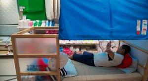 Magyarországon nem ébresztik fel az alvókat az IKEA-ban