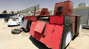 Terepjáróból tákolt tankot a terrorszervezet - fotó