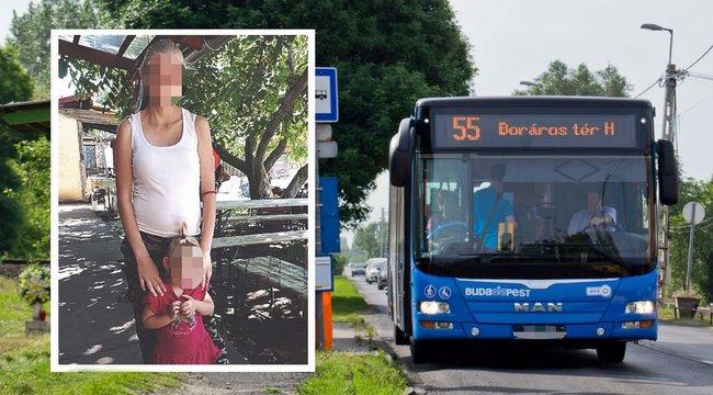 Botrány az 55-ös buszon: Rendőrt hívtak a terhes nőre