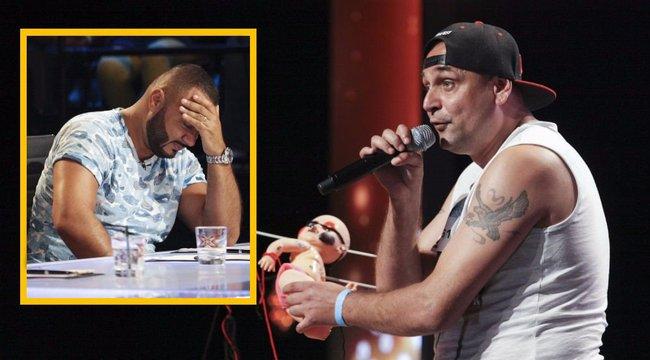 X-Faktor: Gáspár Laci kidobta az ijesztő énekest a stúdióból