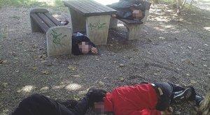 Bódultan feküdtek a debreceni óvoda mellett