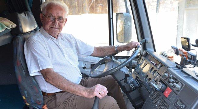 80 évesen hagyta abba a kamionozást Létai Imre