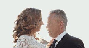 Így sírt az esküvőjén Rubint Réka és Schobert Norbi