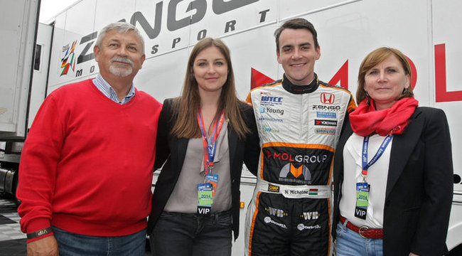 Family photo of the driver, dating Johanna Hohmann, famous for World Touring Car Championship.