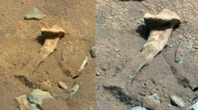 Földönkívüli lény csontjára leltek a Marson