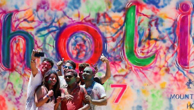Holi fesztivál Indiában