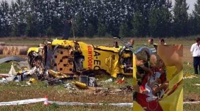 Kétéves kisfiút mentett a földbe csapódott helikopter