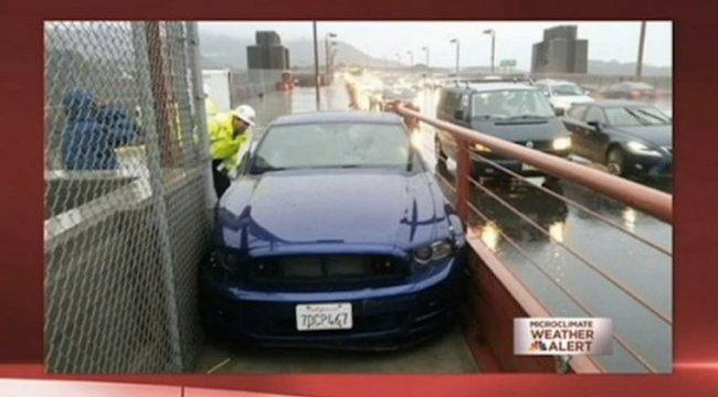 Részeg sofőr hajtott a Golden Gate-híd járdájára