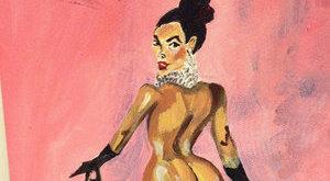 Péniszével festette meg Kardashian hátsóját