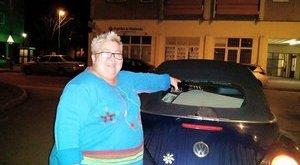 Lego autóvá változik Falusi Mariann kocsija