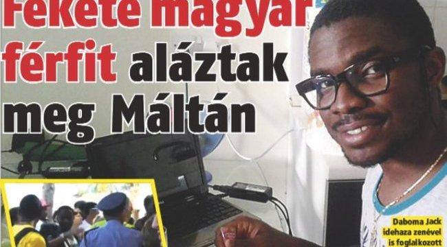 Megszólalt a fekete magyar férfira támadó máltai nő