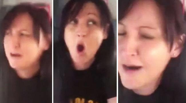 Ablakon át könnyített magán a fiatal asszony - videó
