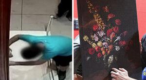Megbotlott, tönkrevágta a 394 milliós festményt